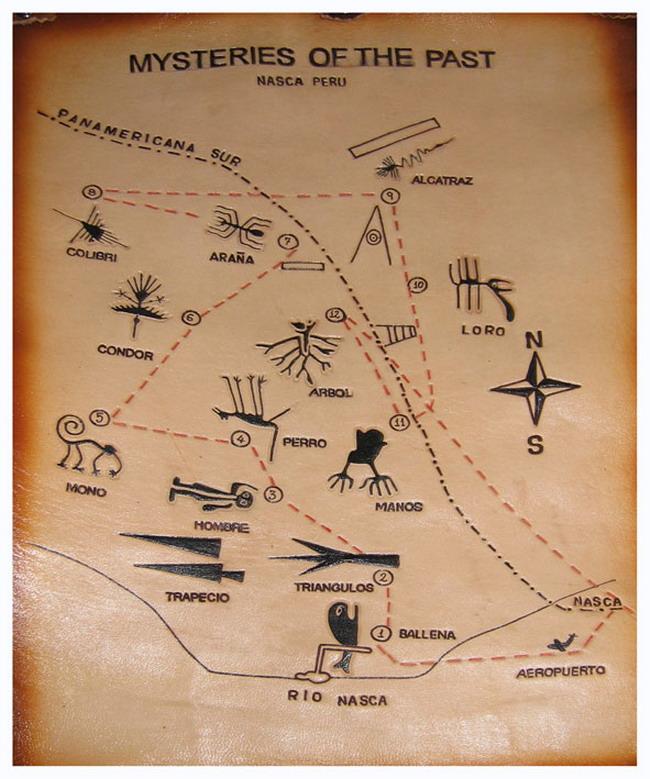 Линии Наска. Карта
