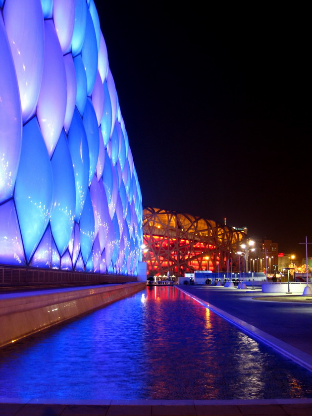 Национальный плавательный комплекс в Пекине