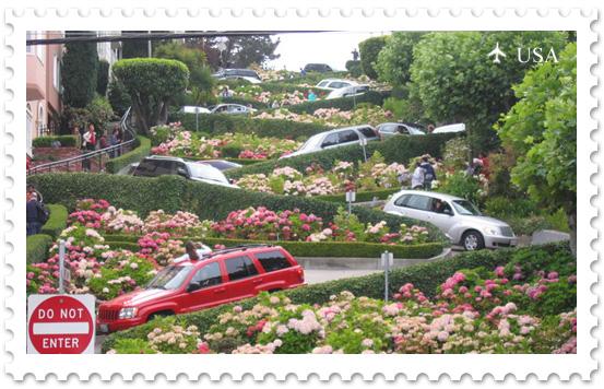 Lombard Street — самая вьющаяся улица Америки
