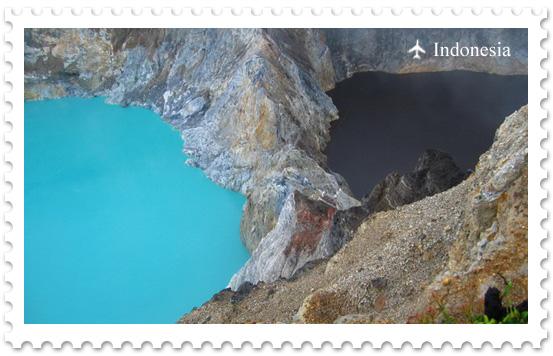 Цветные озера вулкана Келимуту