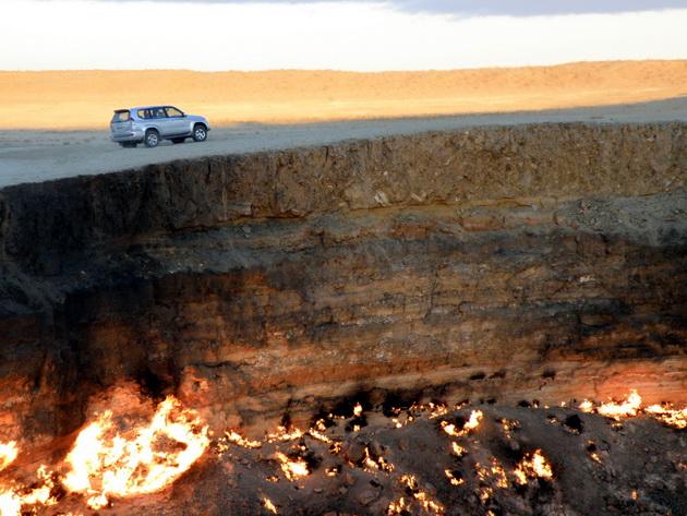 Газовый кратер Дарваз. Туркменистан
