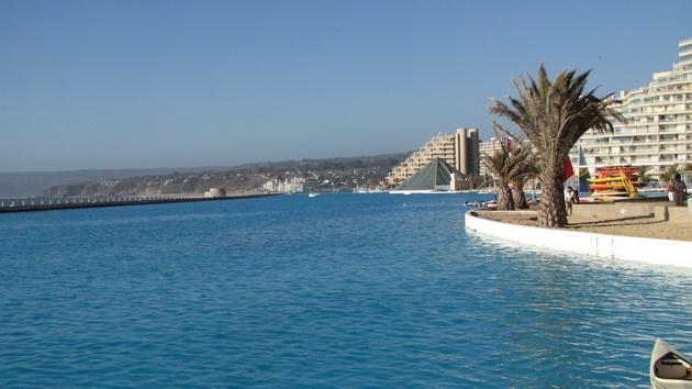 Самый большой бассейн в мире. Отель San Alfonso del Mar. Чили