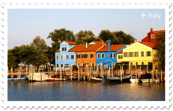 Цветные дома острова Бурано