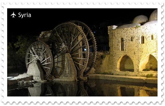 Водяные мельницы в городе Хама