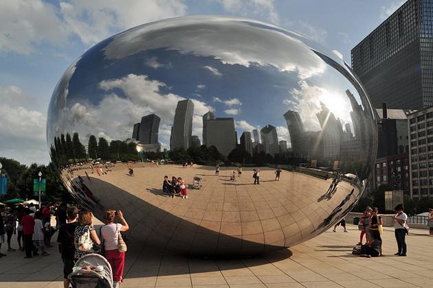 Облачные ворота (Cloud Gate). Миллениум-парк. Чикаго, США