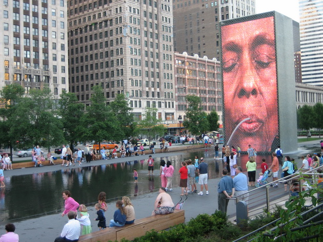 Фонтан Корона (Crown Fountain). Миллениум-парк. Чикаго, США