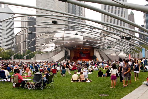Павильон Прицкера (Pritzker Music Pavilion). Миллениум-парк. Чикаго, США