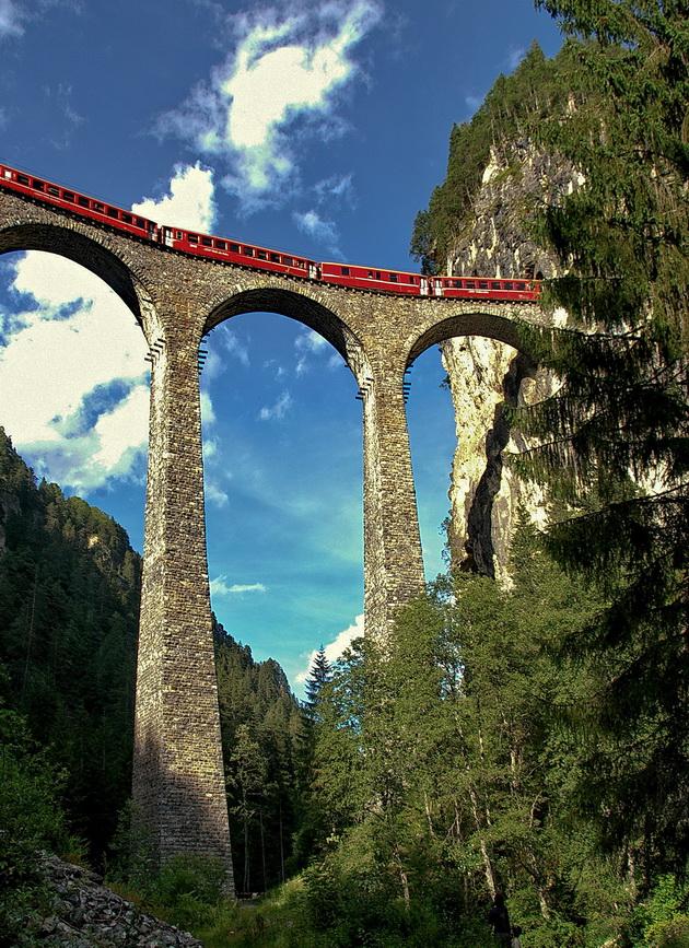 Ретийская железная дорога. Швейцария