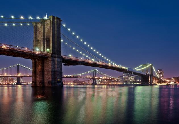 Бруклинский мост (Brooklyn Bridge). Нью-Йорк, США