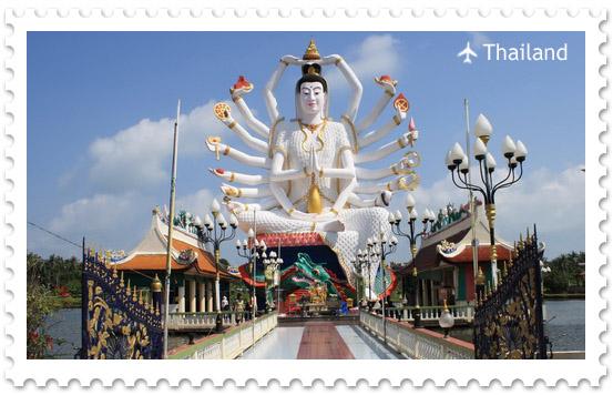 Храм Ват Плай Лаем на острове Самуи
