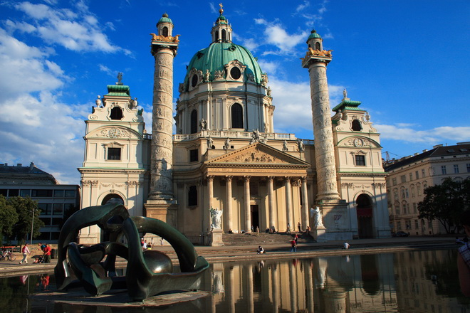 Достопримечательности Вены. Церковь Карлскирхе