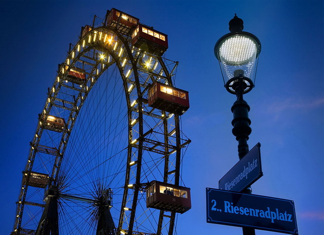 Достопримечательности Вены. Венское колесо обозрения
