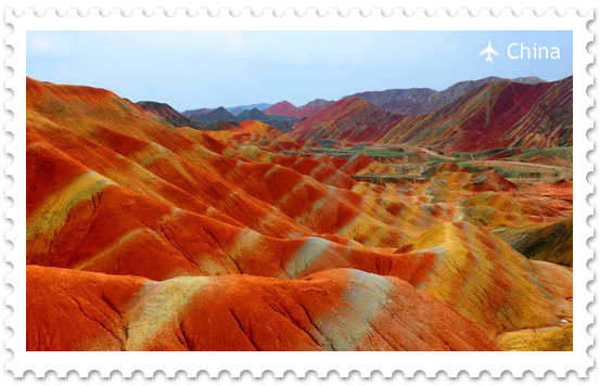 Ландшафт Дэнксия – цветные горы в Китае