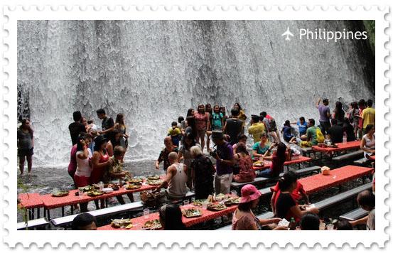 Ресторан у водопада на вилле Эскудеро