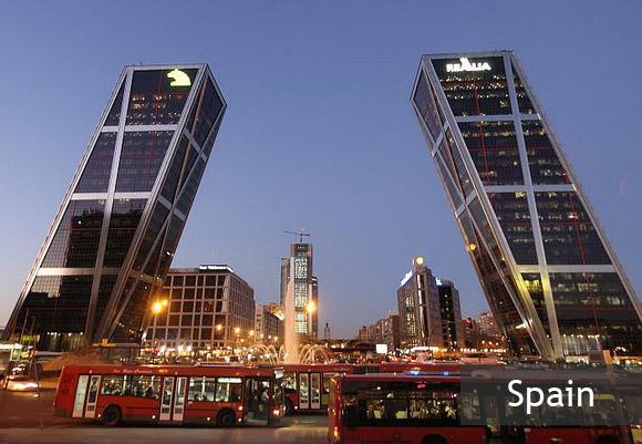 Башни Ворота Европы в Мадриде