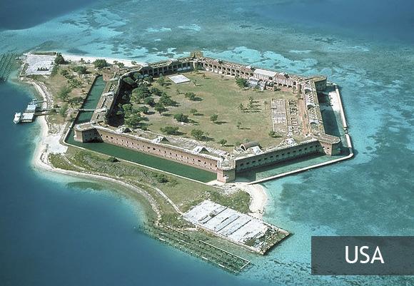 Форт-Джефферсон в Мексиканском заливе