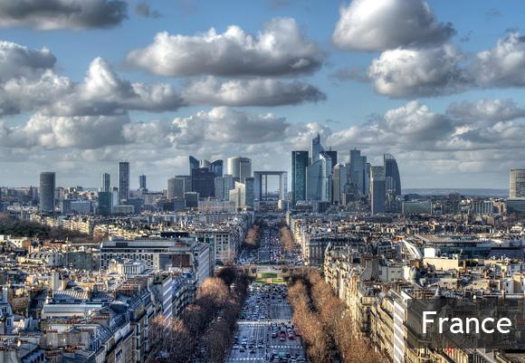 Деловой район Ла Дефанс в Париже