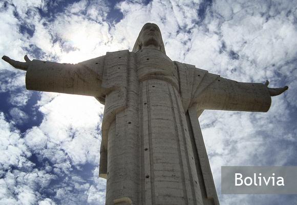 Статуя Иисуса Христа в Боливии