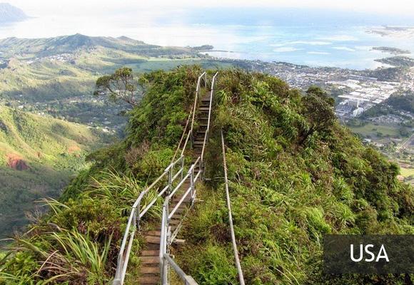 Лестница в небо: тропа Хайку на Гаваях