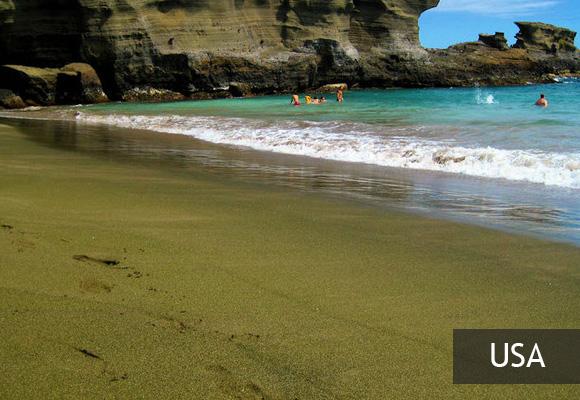 Зеленый пляж Папаколеа